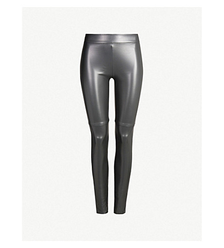 WOLFORD Estella leatherette leggings (7496+office+grey
