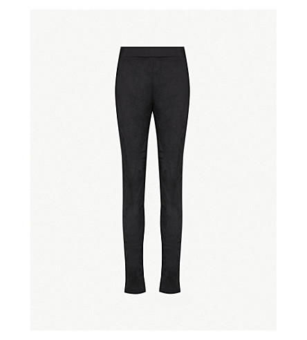 WOLFORD High-rise velour leggings (Black