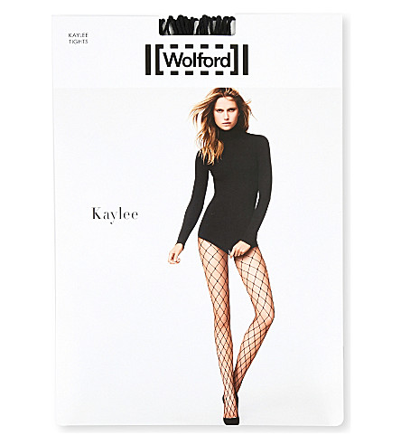 WOLFORD Kaylee fishnet tights (Black