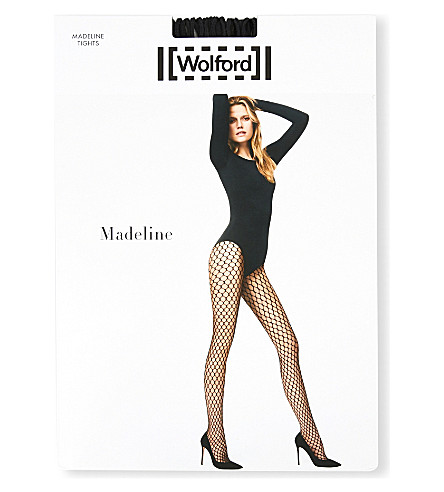 WOLFORD Madeline fishnet tights (Black