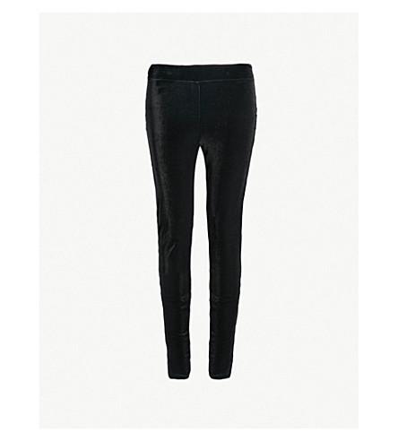 WOLFORD Stretch-velvet leggings (Black