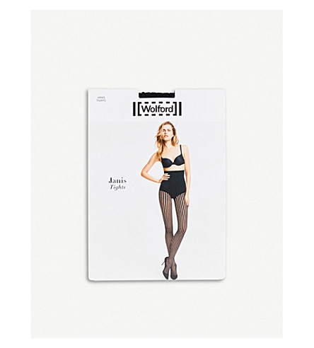 WOLFORD Janis open-knit tights (Black
