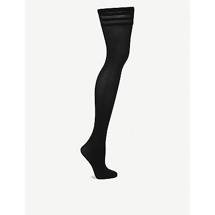 WOLFORD Velvet de Luxe 50 stay–ups (Black
