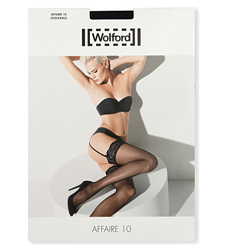 WOLFORD Affaire 10 stockings (Black