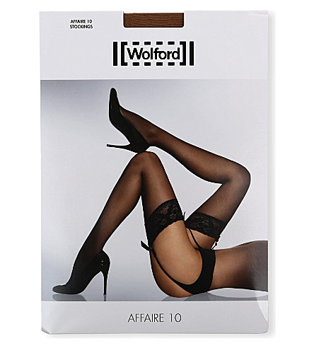 WOLFORD Affaire 10 stockings (Caramel