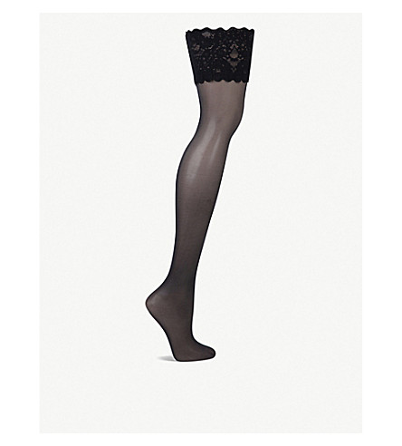 WOLFORD Satin touch 20 hold-ups (Admiral