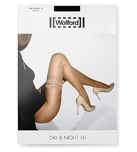 WOLFORD Day & Night 10 Stay-Up tights (Black