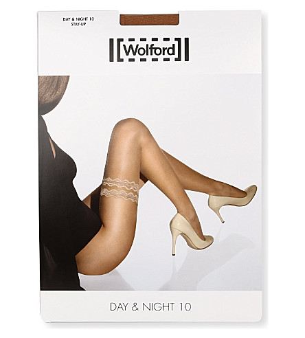 WOLFORD Day & Night 10 Stay-Up tights (Gobi