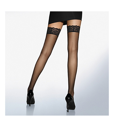WOLFORD Miss W hold-ups (Black