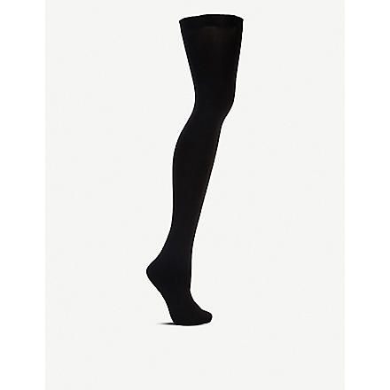 WOLFORD Fatal 80 seamless stay-ups (Black