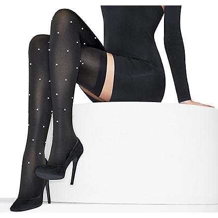 WOLFORD Pearl stay-ups (Black