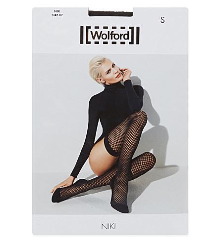 WOLFORD Niki hold-ups (Black/black