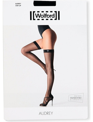 WOLFORD Audrey matte-black stay-ups