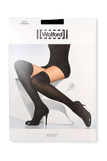 WOLFORD Velvet over–the–knees socks