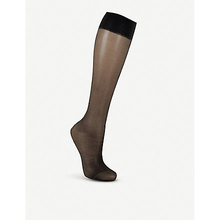 WOLFORD Satin Touch pop–socks (Black