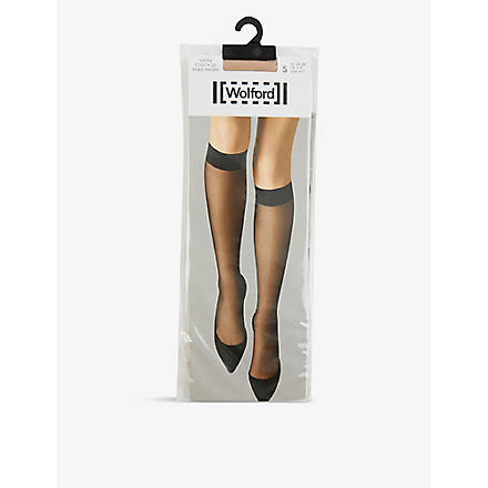 WOLFORD Satin Touch pop–socks (Cosmetic