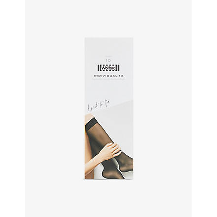 WOLFORD Knee high pop socks (Gobi