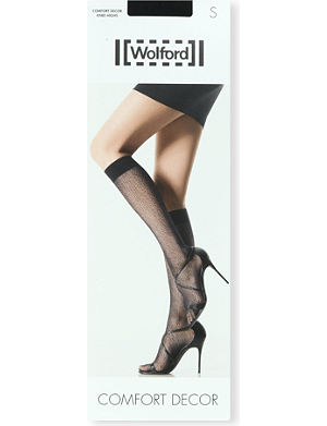 WOLFORD Comfort Decor knee-highs