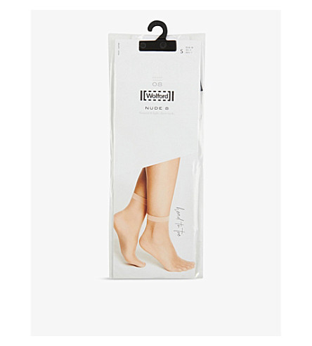 WOLFORD Nude 8 denier socks (Black