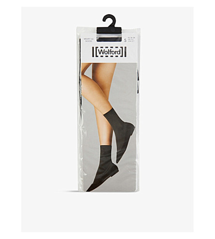 WOLFORD Velvet socks (Black