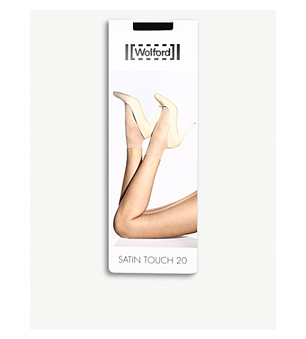 WOLFORD Satin touch 20 socks (Black
