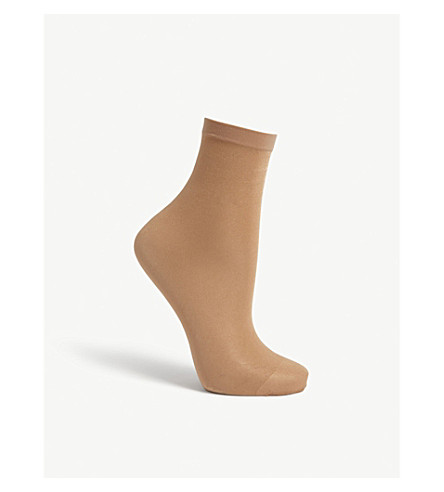 WOLFORD Satin touch 20 socks (Gobi