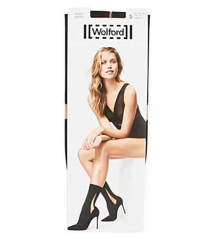 WOLFORD Pivot socks (Black/black