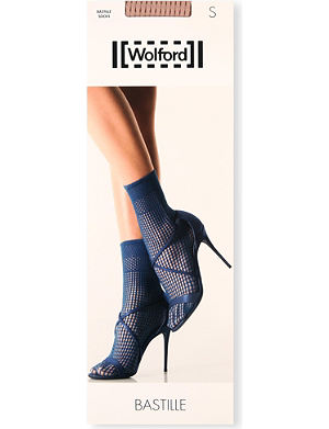 WOLFORD Bastille fishnet socks