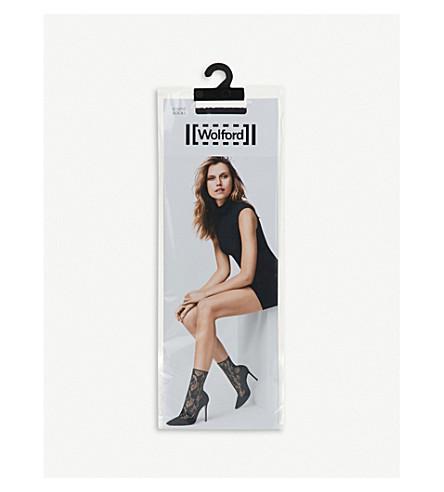 WOLFORD Louise cotton-blend socks (Black
