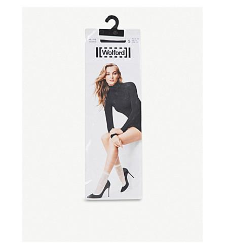 WOLFORD 海丝特针织袜子 (黑色 + 条纹