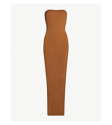 WOLFORD致命的无缝弹力球衣连衣裙 (4408+suntan