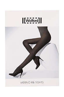 WOLFORD Merino ribbed tights