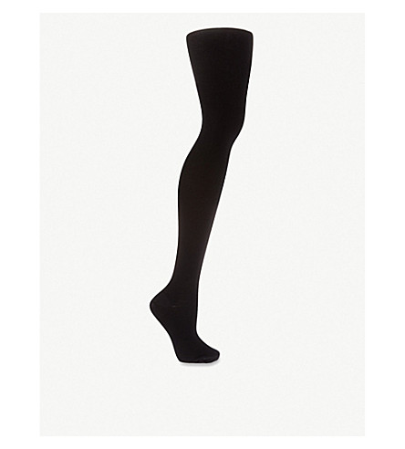 WOLFORD Merino wool tights (Black