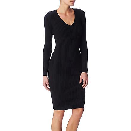 WOLFORD Merino rib dress (Black