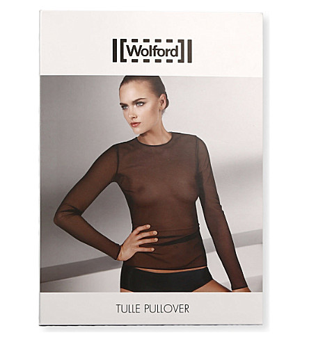 WOLFORD Tulle pullover (Black
