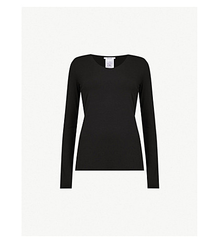 WOLFORD Jersey pullover top (Black