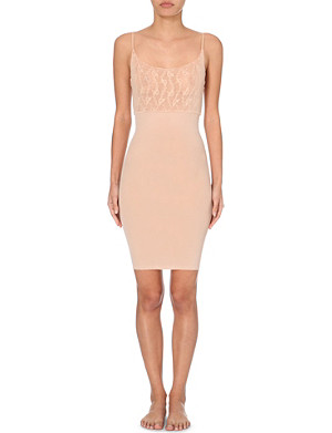 WOLFORD Lilie semi-sheer dress