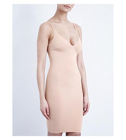 Rosa holgado WOLFORD algodón Vestido elástico de bronceado dqwUUX0