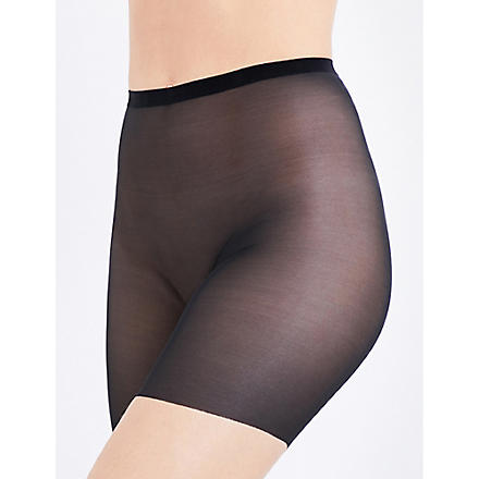 WOLFORD Tulle control shorts (Black