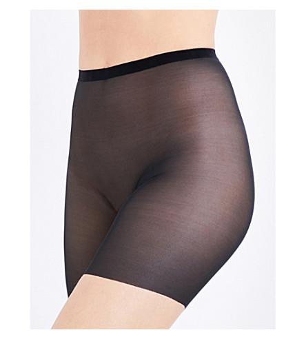 WOLFORD 薄纱控制短裤 (黑色