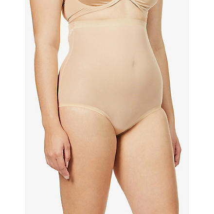 WOLFORD Tulle control high waist briefs (Nude
