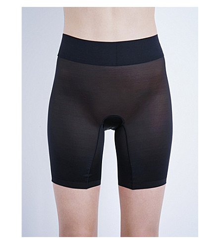 WOLFORD Sheer touch control shorts (Black