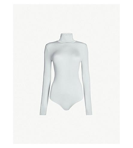 WOLFORD Colorado turtleneck stretch-jersey body (Artic+grey