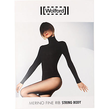 WOLFORD Merino ribbed body (Anthracite