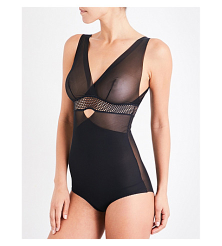 WOLFORD Sheer forming mesh body (Black