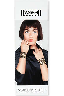 WOLFORD Scarlet beaded cuff bracelet