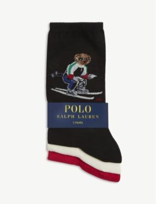 Ski Polo Bear cotton-blend socks pack of 3