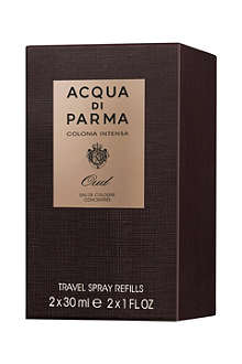 ACQUA DI PARMA Colonia Intensa Oud Eau de Cologne Concentrée Travel Spray Refills 2x30ml