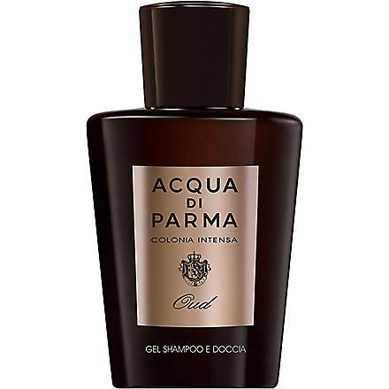 ACQUA DI PARMA Colonia Intensa Oud Eau de Cologne Concentrée Hair and Shower Gel 200ml