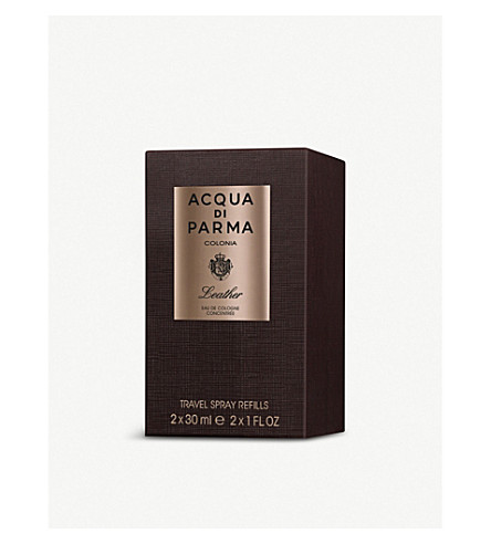 ACQUA DI PARMA Colonia leather travel spray refill 2x30ml